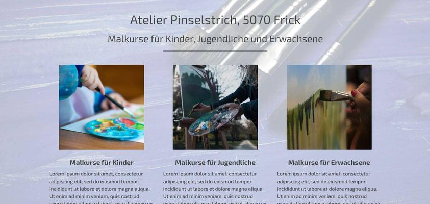 Beispiel-Webseite Malkurse