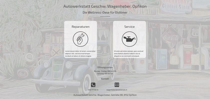Beispiel-Webseite Autowerkstatt