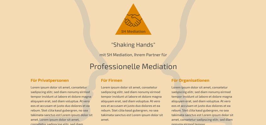 Beispiel-Webseite Mediation
