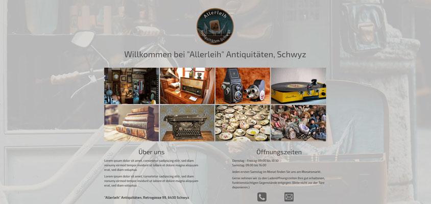 Beispiel-Webseite Antiquitäten