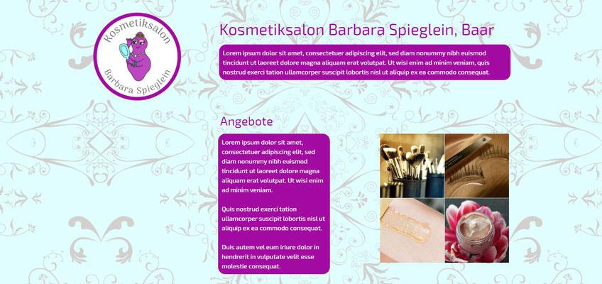 Beispiel-Webseite Kosmetik