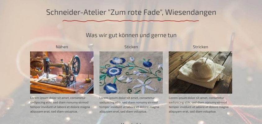 Beispiel-Webseite Schneider-Atelier