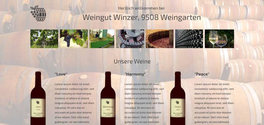 Moderne Internetseiten - Landwirtschaft_Weinbau