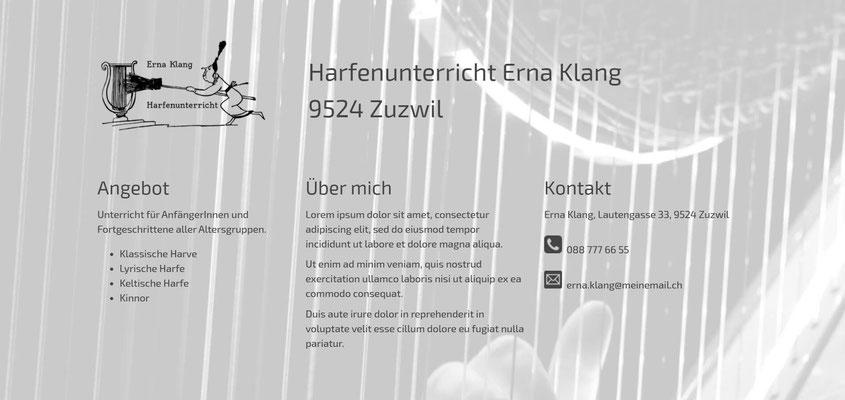Beispiel-Webseite Musikunterricht