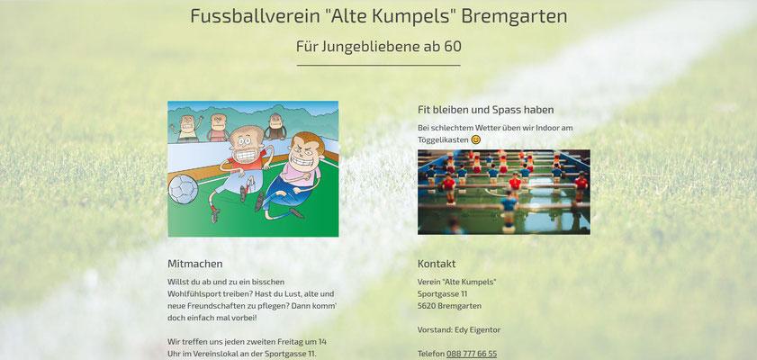 Beispiel-Webseite Verein