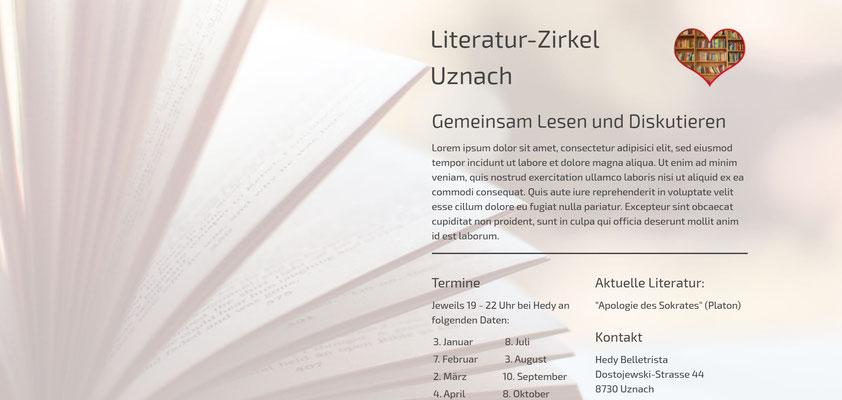 Moderne Internetseiten - Literatur-Zirkel