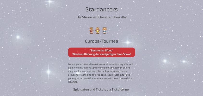 Beispiel-Webseite Performance_Dance