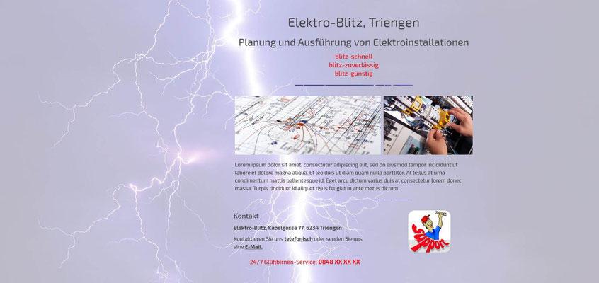 Beispiel-Webseite Elektriker