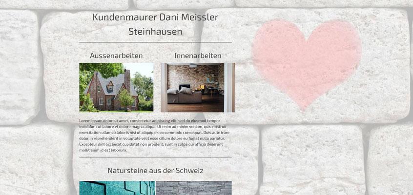Beispiel-Webseite Maurer
