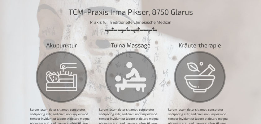 Moderne Internetseiten - TCM-Praxis