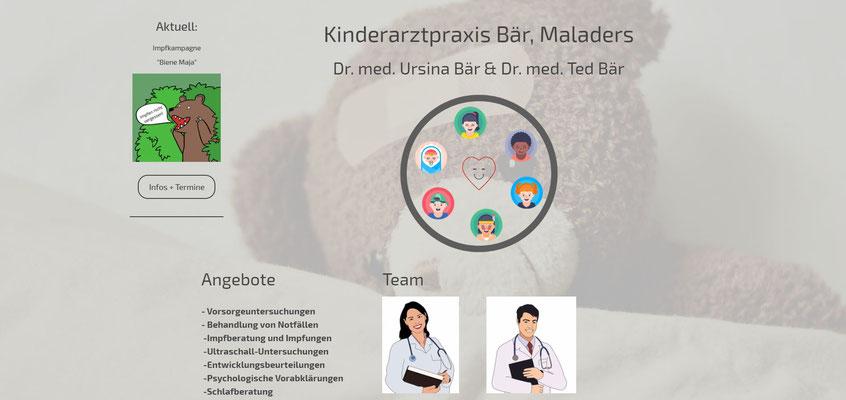 Beispiel-Webseite Pädiatrie