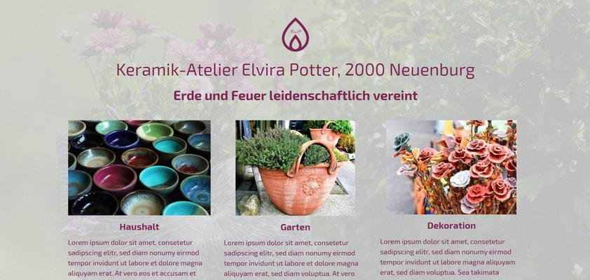 Beispiel-Webseite Kunst_Keramikdesign