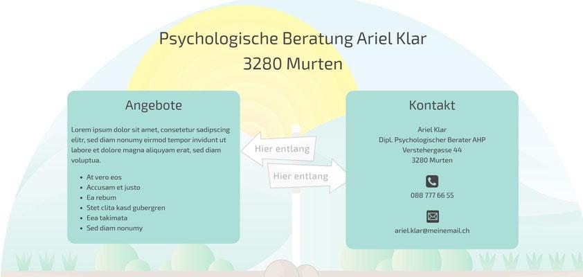Moderne Internetseiten - Psychologie