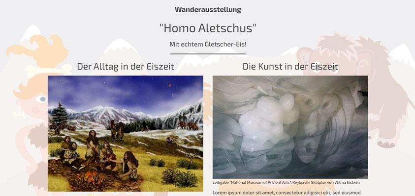Moderne Internetseiten - Ausstellung