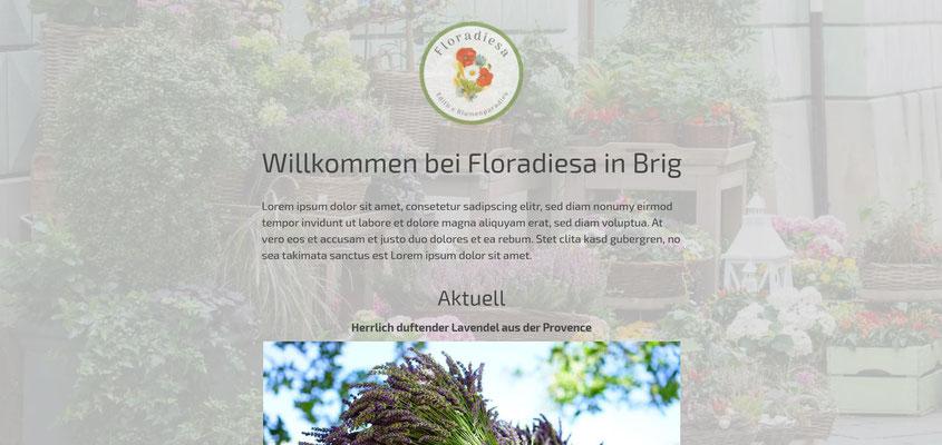 Moderne Internetseiten - Blumenladen