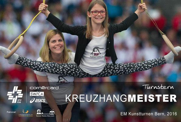 Kreuzhangmeister Foto Turnstern mit Brigitte und Lena