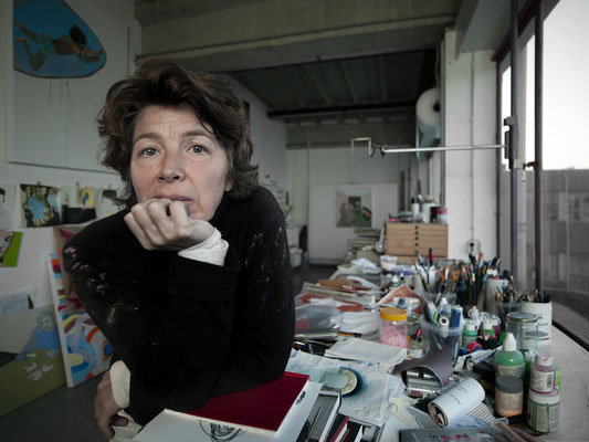 This is Astrid Oudheusden, in her studio in Amsterdam where you can find her almost every day of the week.