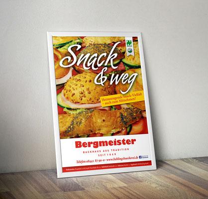 Plakat/Deckenhänger - Snacks