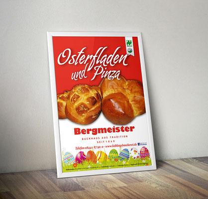 Plakat/Deckenhänger - Osterfladen & Pinza