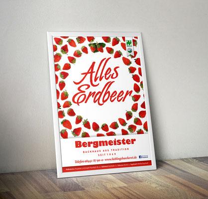 Plakat/Deckenhänger - Erdbeerkuchen