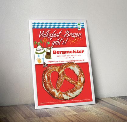 Plakat/Deckenhänger - Volksfest-Brezen