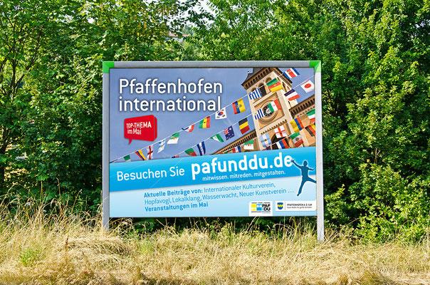 """Großflächenplakat für Kampagne """"PAF und DU"""""""