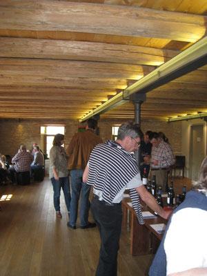 Weinverkostung im Weingut Wasem