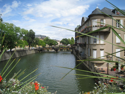 Die Mosel in Metz Frankreich