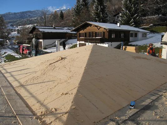 Dämmung mit 14cm Holzfaserplatten