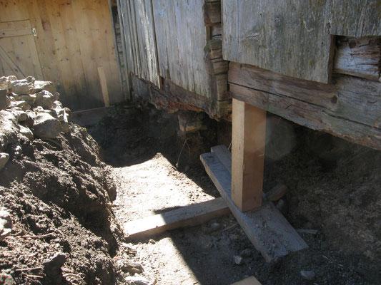 Fundament ist ausgegraben