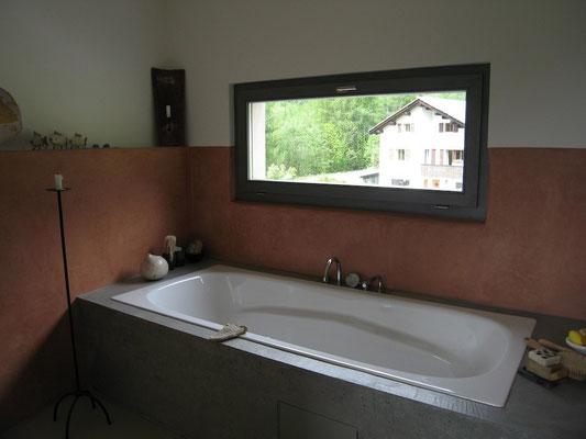 Tadelaktwände im Badezimmer