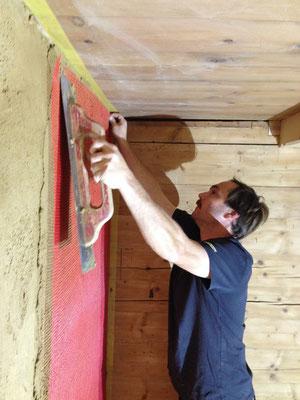 Einarbeiten des Glasfasernetzes zur Armierung