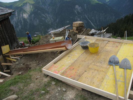 Bereit für den Beton