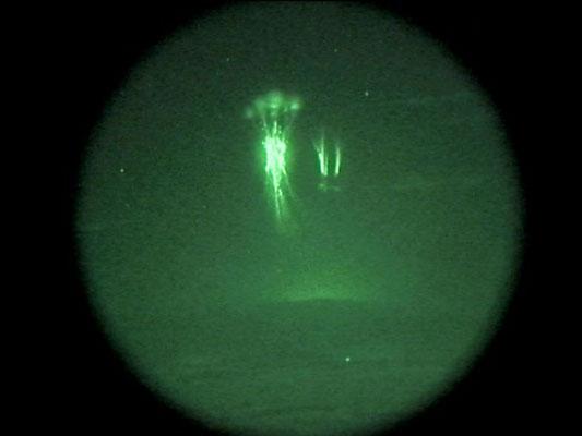 Sprites vistos no Colorado, EUA, em 10 de agosto de 2000.