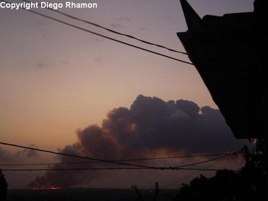 Pyrocumulus vista em João Pessoa, Paraíba, em 03/02/2010.