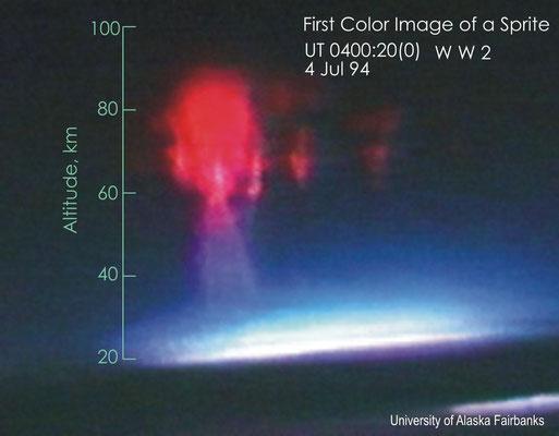 Primeira imagem colorida de um Sprite, em 04/07/1994.