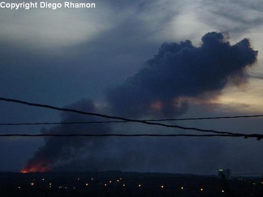 Pyrocumulus vista em João Pessoa, Paraíba, em 13/01/2010.