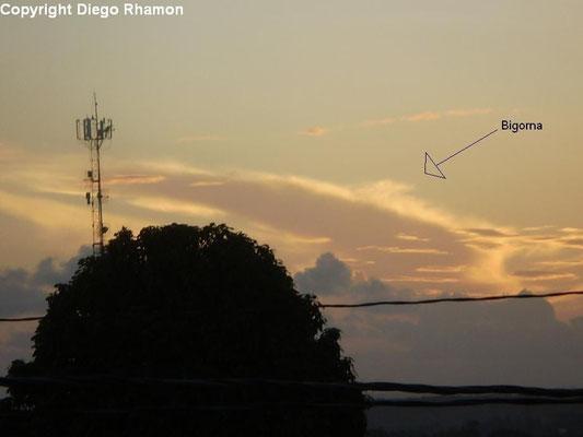Cumulonimbus incus vista em João Pessoa, Paraíba, em 11/02/2010.