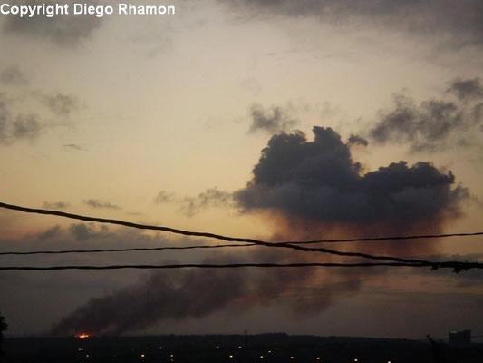Pyrocumulus vista em João Pessoa, Paraíba, em 14/01/2010.