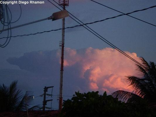 Cumulonimbus capillatus vista em João Pessoa, Paraíba, em 23/02/2010.