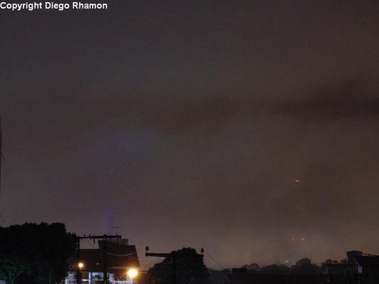 Nevoeiro visto em João Pessoa, Paraíba, em 22/02/2014.