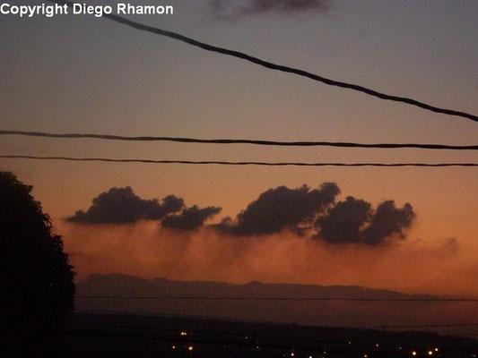 Pyrocumulus vistas em João Pessoa, Paraíba, em 18/09/2009.