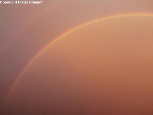 Arco-íris duplo visto em Campina Grande, Paraíba, em 29/05/2014.