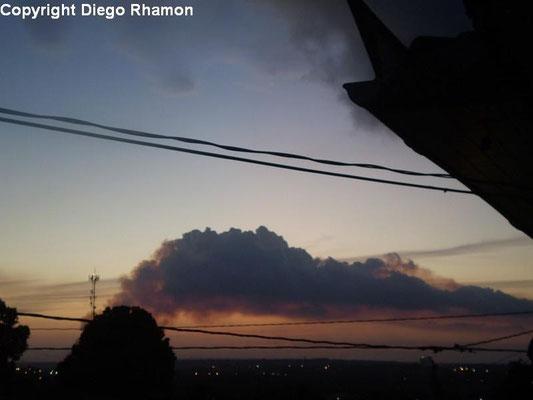 Pyrocumulus vista em João Pessoa, Paraíba, em 05/12/2009.