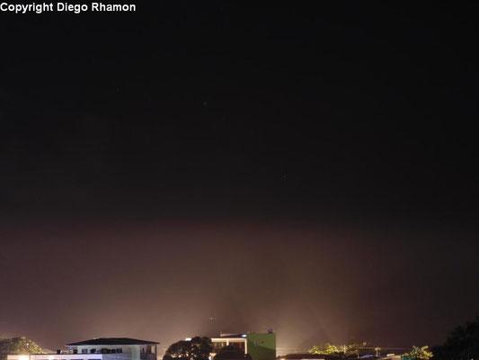 Nevoeiro visto em João Pessoa, Paraíba, em 06/04/2014.