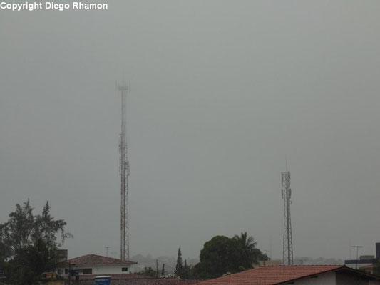 Nevoeiro visto em João Pessoa, Paraíba, em 14/03/2014.