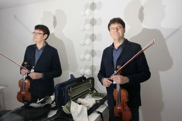 Der 1. Konzertmeister des NDR-Orchesters Stefan Wagner hat ein eigenes Probenzimmer.