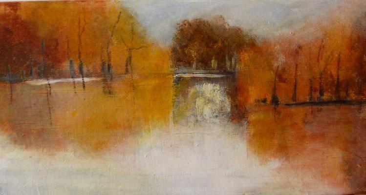 automne enneigé  (25x50)