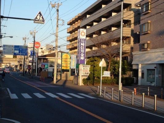 大倉山方面から当院へ来た場合の見え方です.   新羽横浜yokohama港北都筑花粉症インフルエンザワクチン予防接種価格1000円赤ちゃん子供