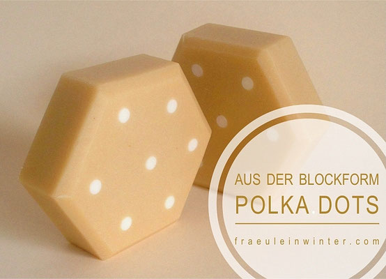 Polka dots - Seife aus der Blockform